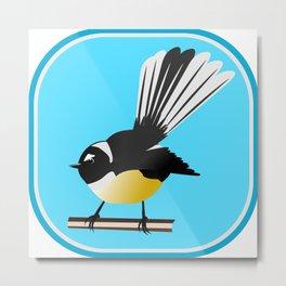 Fantail NZ BIRD Metal Print