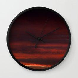 Black sunset Wall Clock