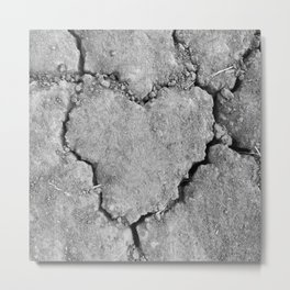 Ground Heart Metal Print