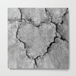 Ground Heart Metal Print