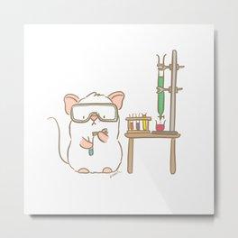 Lab Mouse Metal Print