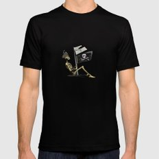 Pirates Mens Fitted Tee Black MEDIUM