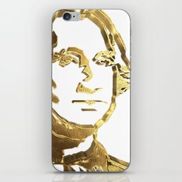 First President of The USA George Washington Gold Look Portrait Bust iPhone Skin