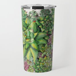 Watercolour Succulents Travel Mug