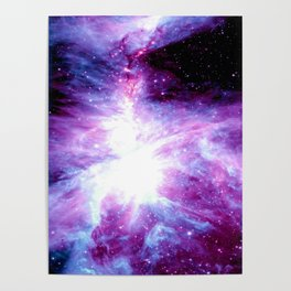 Orion Nebula Purple Periwinkle Blue Galaxy Poster