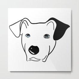 A dog named Beau Metal Print
