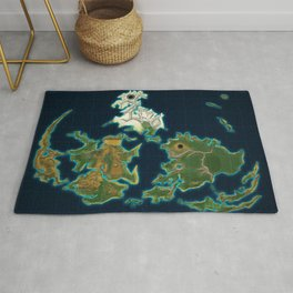 Final Fantasy VII - Shinra Airways World Map Rug