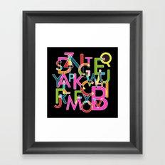 Alphabet Deconstructed Colour Framed Art Print