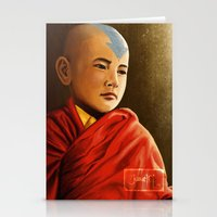aang Stationery Cards featuring Avatar Aang by Jamie Williams