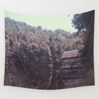 cabin Wall Tapestries featuring Julia Cabin by Noah Loethen