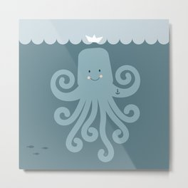 octopus sailor - you are stronger than you think you are Metal Print