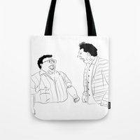 seinfeld Tote Bags featuring Seinfeld by visualinterpreter