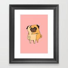 Pug Hugs Framed Art Print