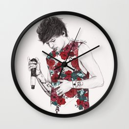 Floral Louis Wall Clock