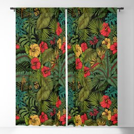 Tropical garden Blackout Curtain