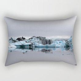Icebergs at Glacier Lagoon Jökullsárlon Rectangular Pillow