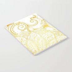 Mandala - Golden brush Notebook