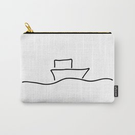 boat or ship on trip on the sea Carry-All Pouch
