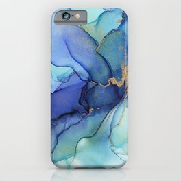 Electric Waves Violet Turquoise - Part 3 iPhone Case