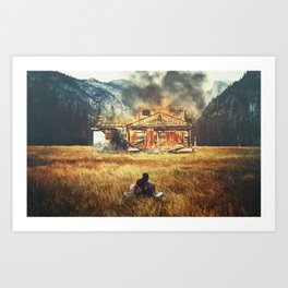 Burned Art Print