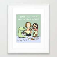 baking Framed Art Prints featuring Baking Advice by Sophie Corrigan