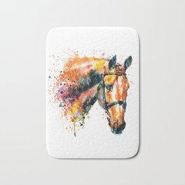 Colorful Horse Head Bath Mat
