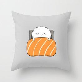 sleepy sushi Throw Pillow