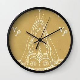 Rooted Capricorn Wall Clock