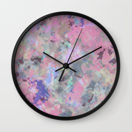 Pink Blush Abstract Wall Clock