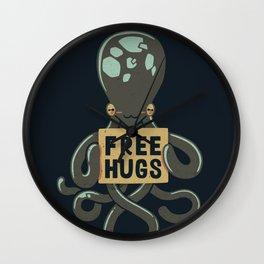 Free Hugs Octopus Wall Clock