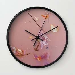 Harry Album Artwork Floral Pink Water Wall Clock