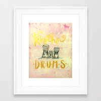 drums Framed Art Prints featuring Drums by Art Show For A Cause Gallery + Products