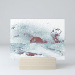 Pink Moon Mountain Mini Art Print