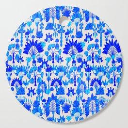 Exotic Garden Blue Cutting Board