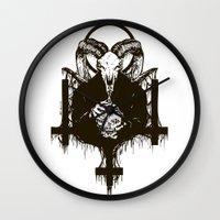 satan Wall Clocks featuring Satan by Lunaramour