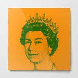 Queen Elizabeth Orange and Green Metal Print
