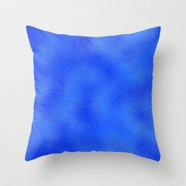 Royal Blue Foil Throw Pillow