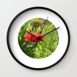 garden poppy IX Wall Clock