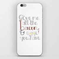 ron swanson iPhone & iPod Skins featuring Ron Swanson by Olivia
