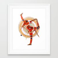 pivot Framed Art Prints featuring Pivot | Collage by Lucid House