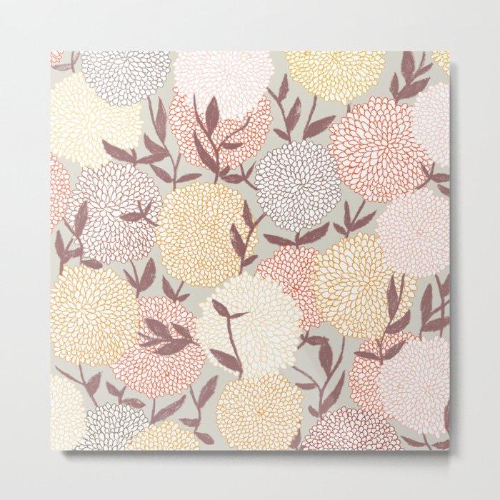 Pastel flowers Metal Print
