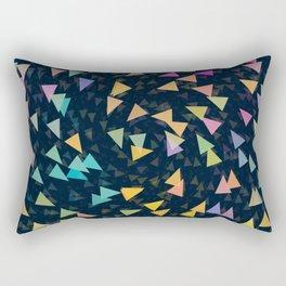 Spirling Triangles Rectangular Pillow