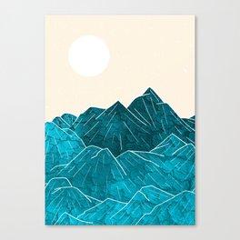 Mountains under the white sun Canvas Print