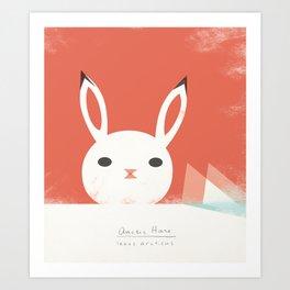Arctic Hare Art Print