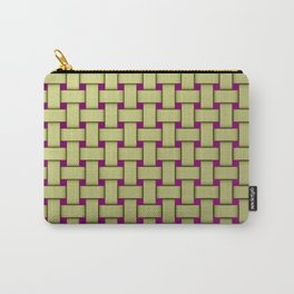 colored stripe pattern with rectangles and Carry-All Pouch