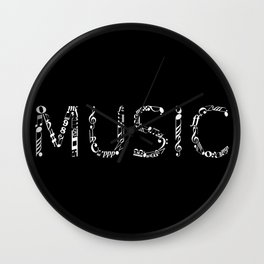 Music typo - inverted Wall Clock
