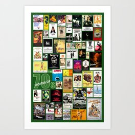 Great Movies of the 70s Art Print