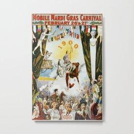 Vintage poster - Mobile Mardi Gras Metal Print