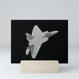 F-22 Raptor Military Fighter Jet Mini Art Print