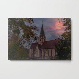 Sunset over a Monastrey Metal Print